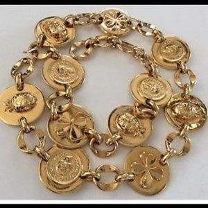 RARE VINTAGE CHANEL ICONIC GOLD PLATED BELT